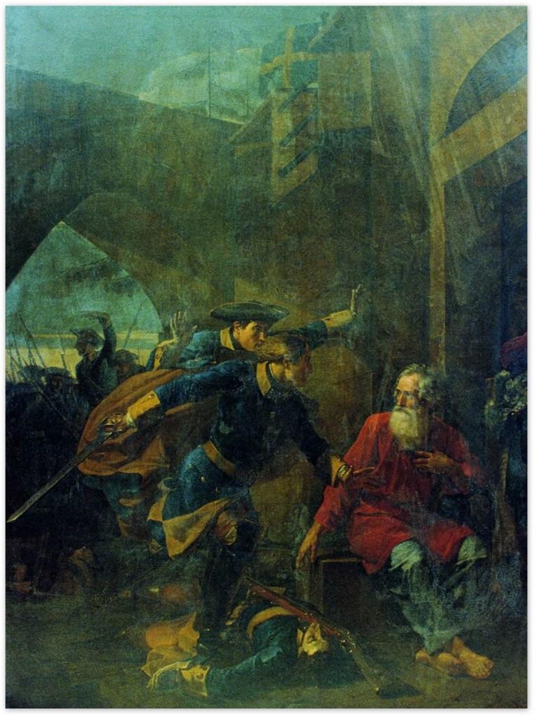 Василий Козьмич Шебуев - Подвиг купца Иголкина (1839, Государственный Русский музей)
