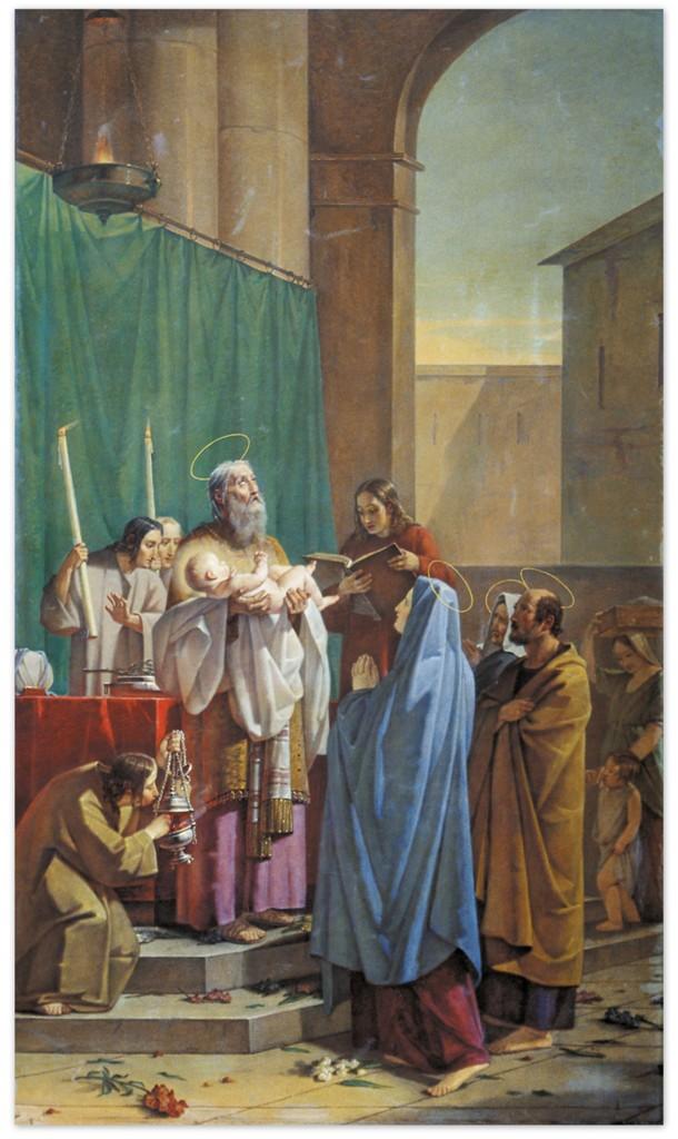 Василий Козьмич Шебуев - Симеон Богоприимец (1847, Государственный Русский музей)
