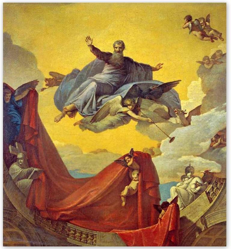 Василий Козьмич Шебуев - Видение пророка Иезекииля (1836)