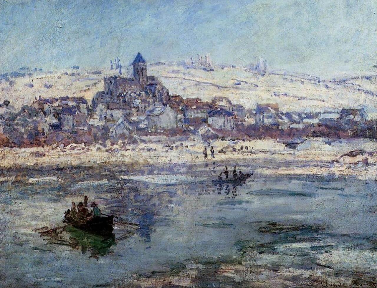 Ветёй зимой - Клод Моне (1879, Художественный музей, Гётеборг)
