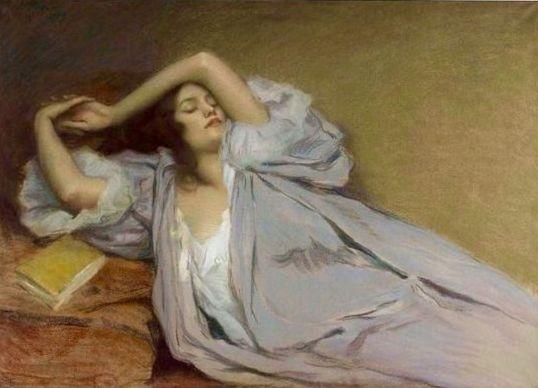 Виктор Проуве. Женщина, отдыхающая на диване, 1899