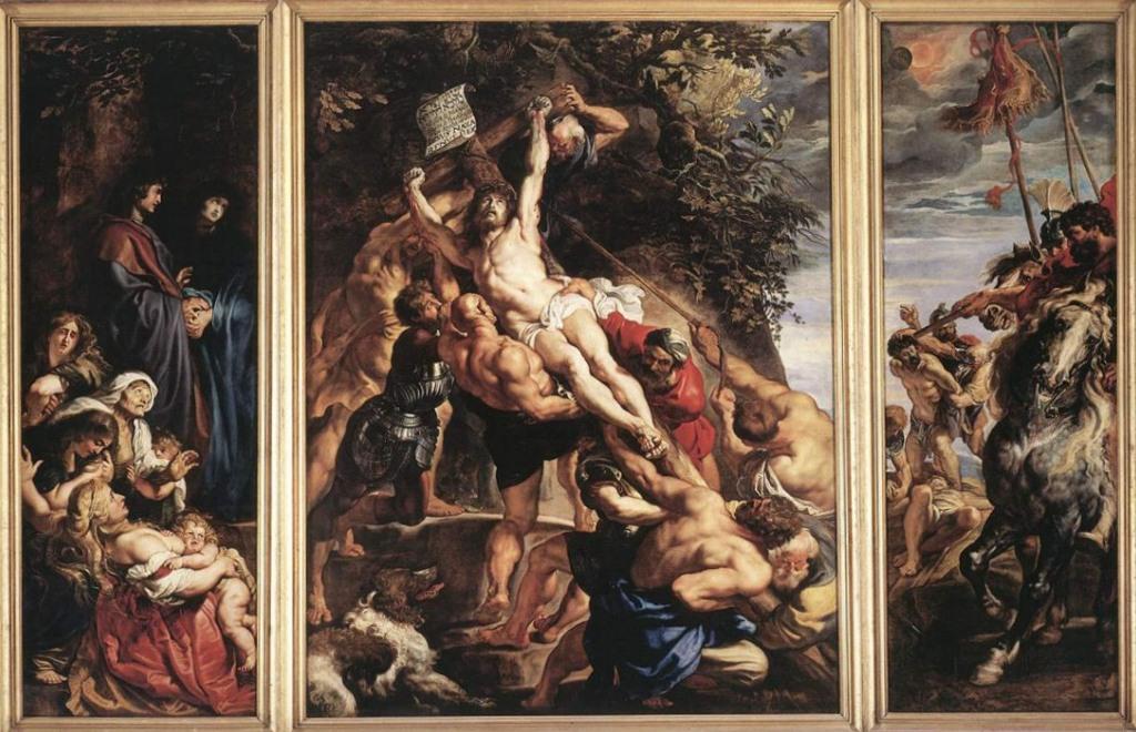 Воздвижение креста - Питер Пауль Рубенс (1610, собор Антверпена)