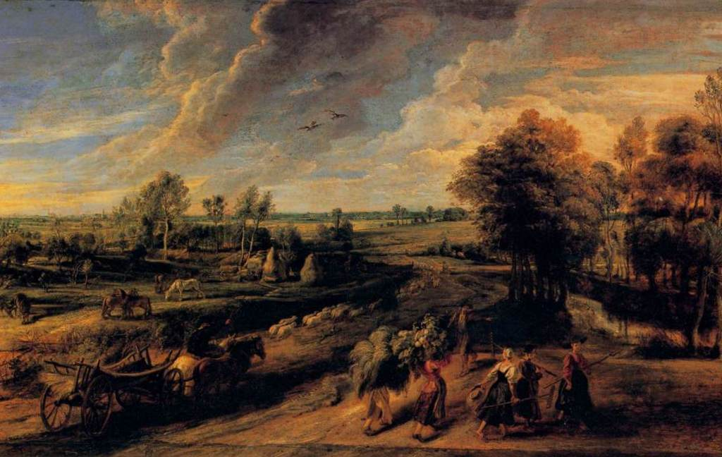 Возвращение крестьян с полей - Питер Пауль Рубенс (1637, Галерея Питти, Флоренция)