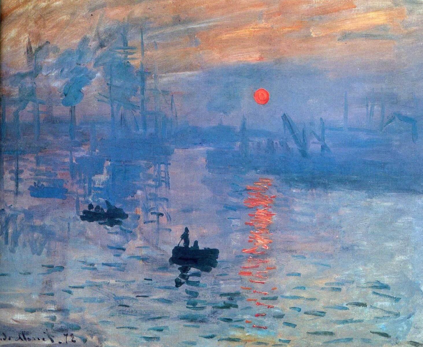 Впечатление, восход солнца - Клод Моне (1872, Музей Мармоттан, Париж)