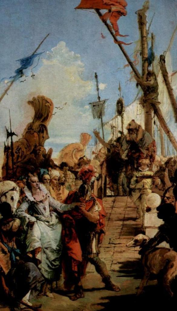 Встреча Марка Антония и Клеопатры - Джованни Баттиста Тьеполо (1747-1749)