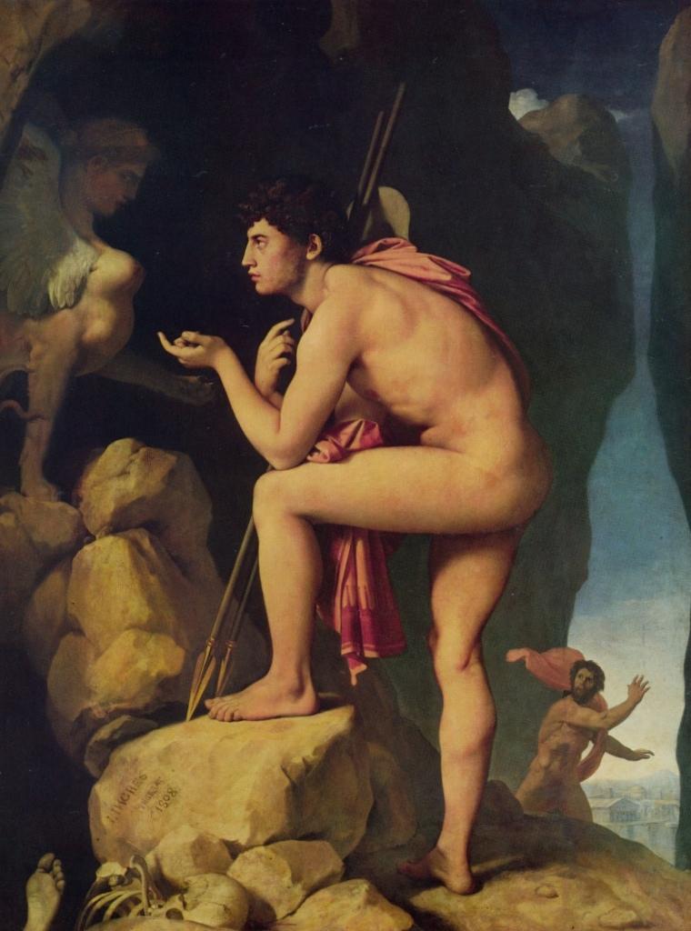Эдип и Сфинкс - Жан Огюст Доминик Энгр (1808)