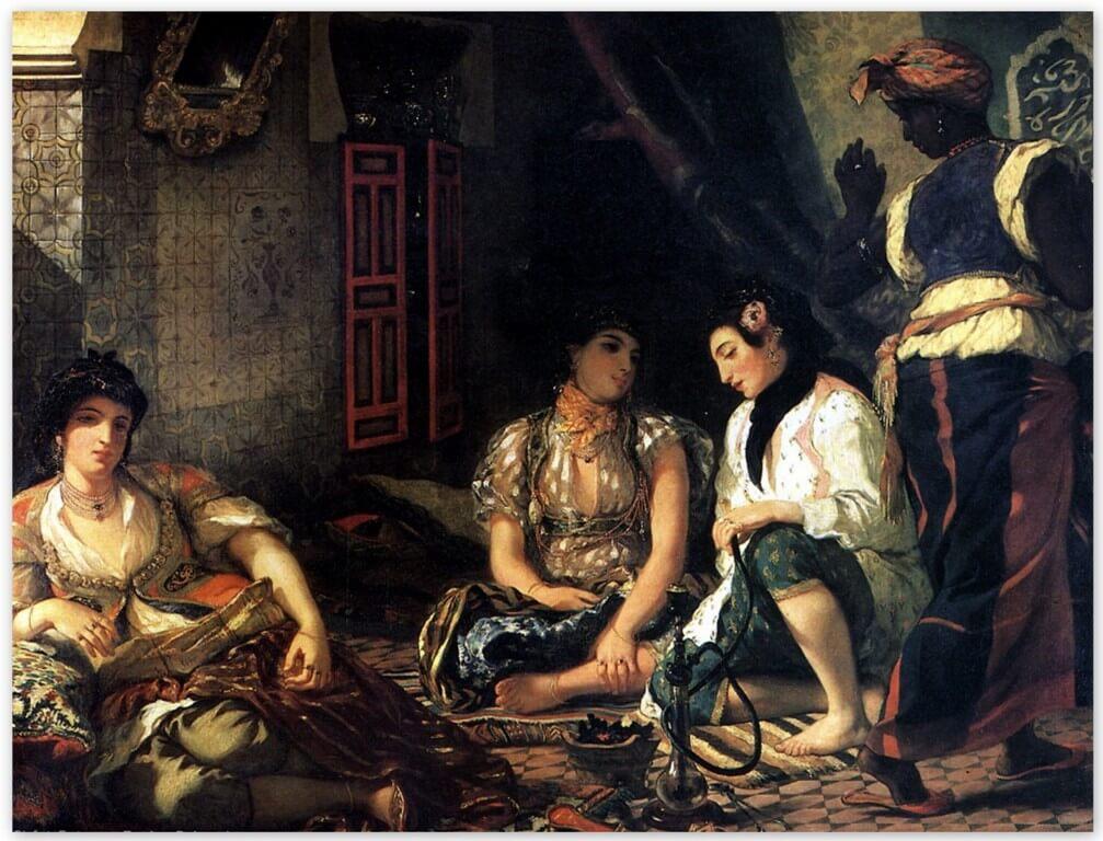 Эжен Делакруа - Алжирские женщины (1834, Лувр, Париж )
