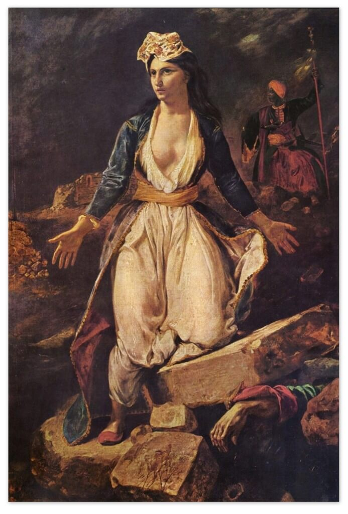 Эжен Делакруа - Греция на руинах Миссолонги (1826, Художественный музей Бордо)