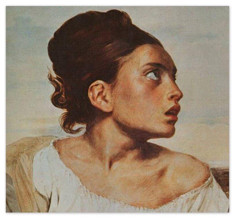 Эжен Делакруа - Сирота на кладбище (1823 - 1824, Лувр, Париж)