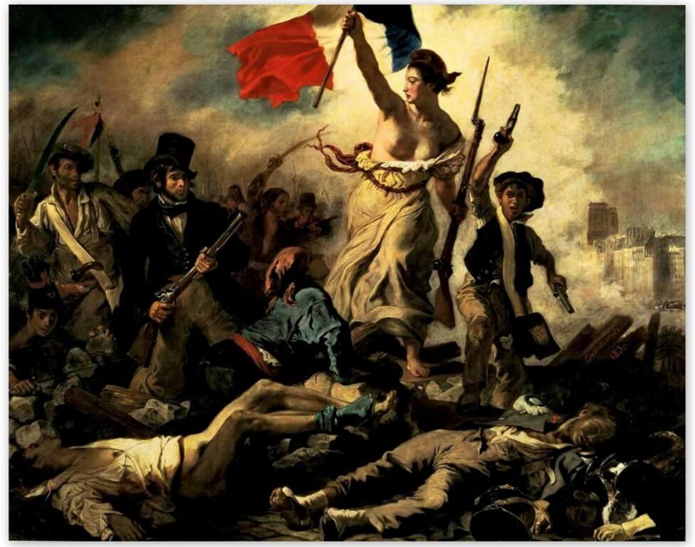 Эжен Делакруа - Свобода, ведущая народ (другое название Свобода на баррикадах, 1830, Лувр, Париж)