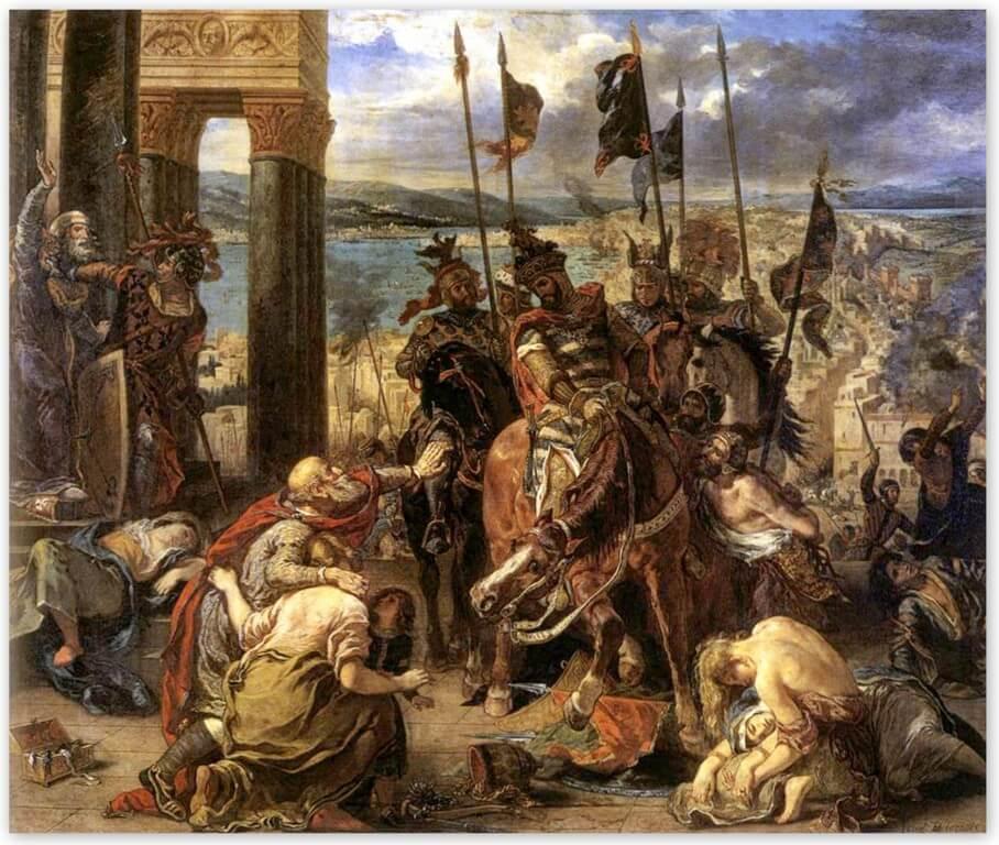 Эжен Делакруа - Вступление крестоносцев в Константинополь (1840, Лувр, Париж)