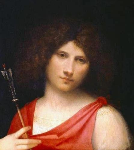 Юноша со стрелой - Джорджоне (1506,Музей истории искусства, Вена)