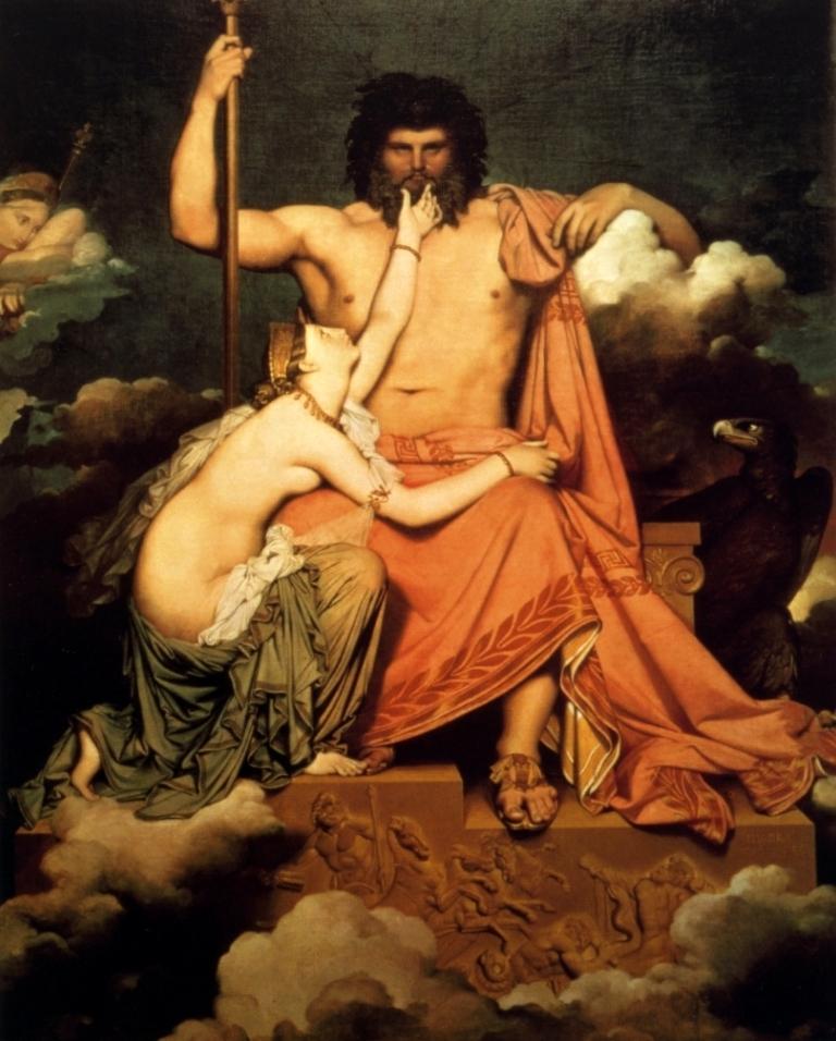 Юпитер, умоляемый - Жан Огюст Доминик Энгр (1811, Музей Гране, Экс-ан-Прованс)
