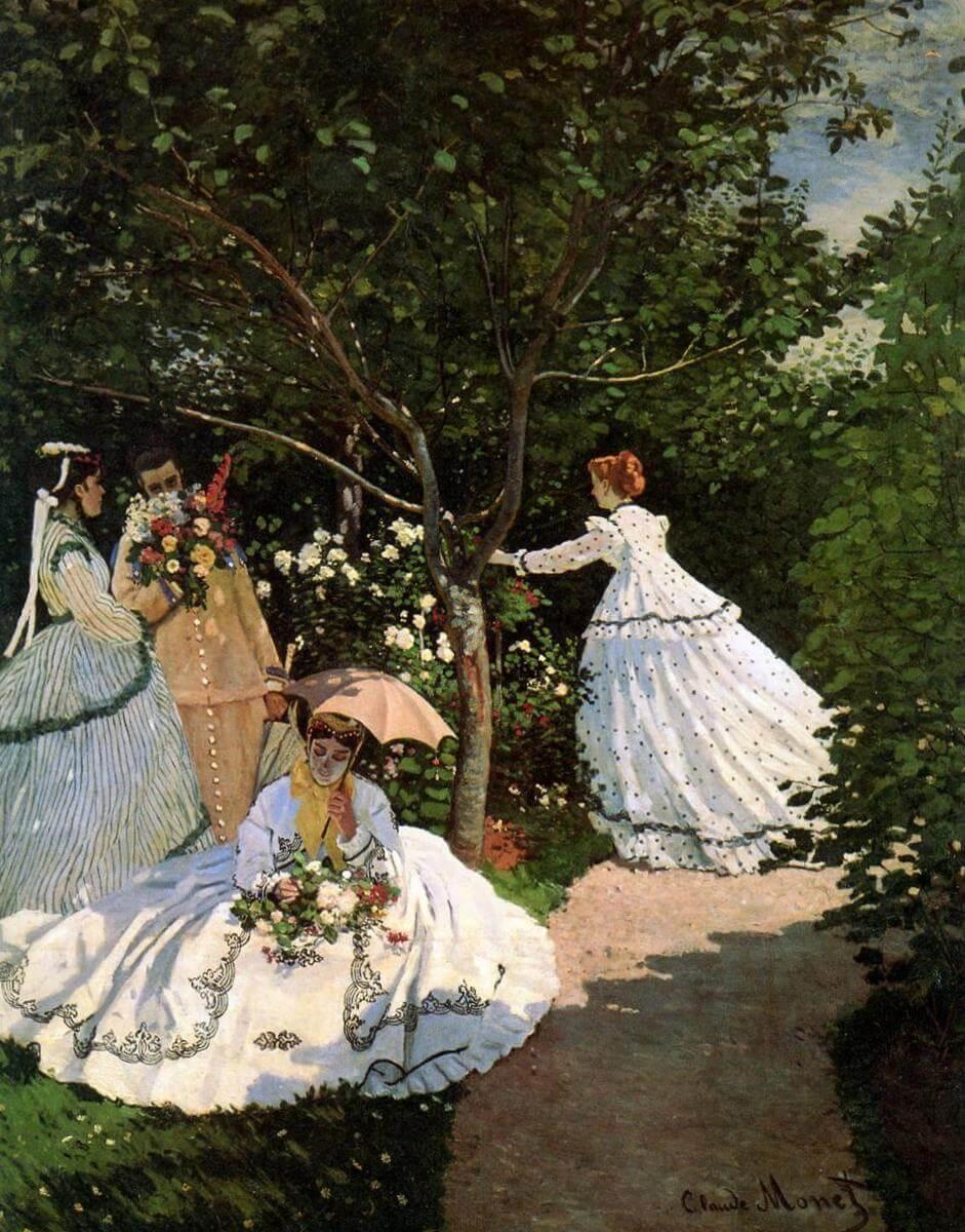 Женщины в саду - Клод Моне (1866,Музей д'Орсэ )