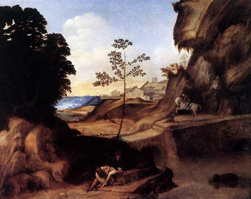 Заход солнца - Джорджоне ( 1506-1510, Частное собрание, Лондон)