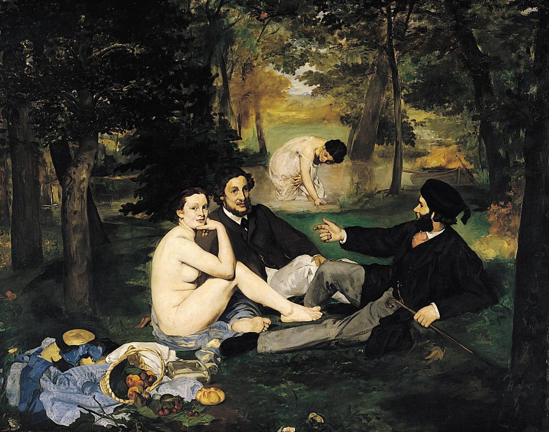«Завтрак на траве» - Эдуар Мане (1863, Музей д'Орсэ, Париж)