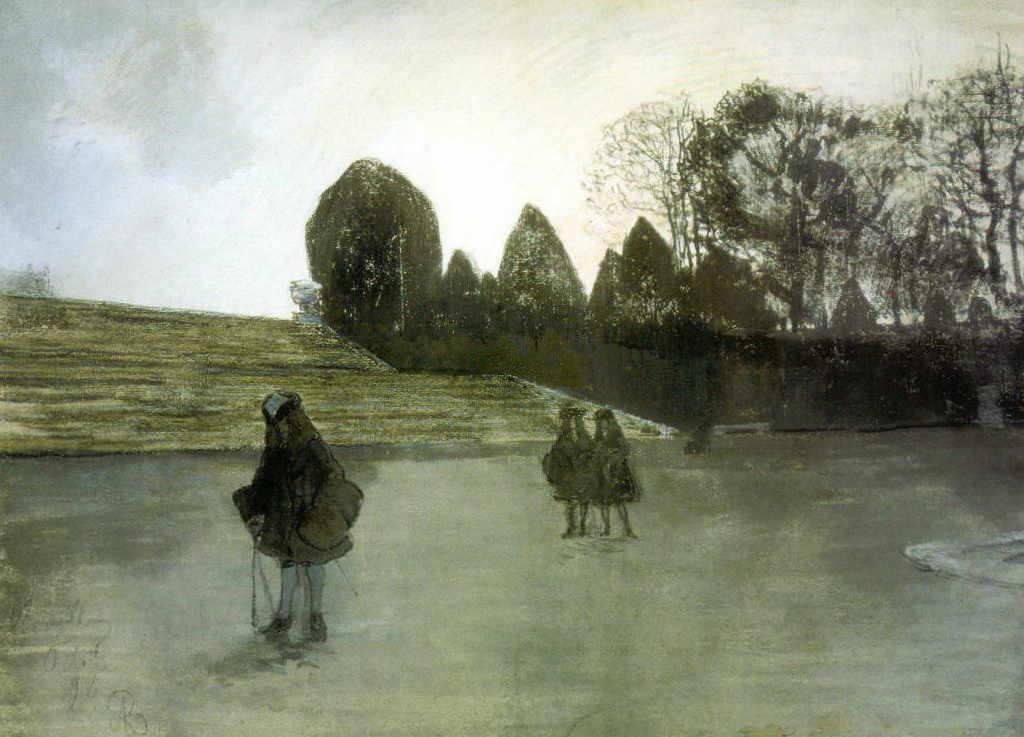 Александра Бенуа - Прогулка короля (1896 г.)