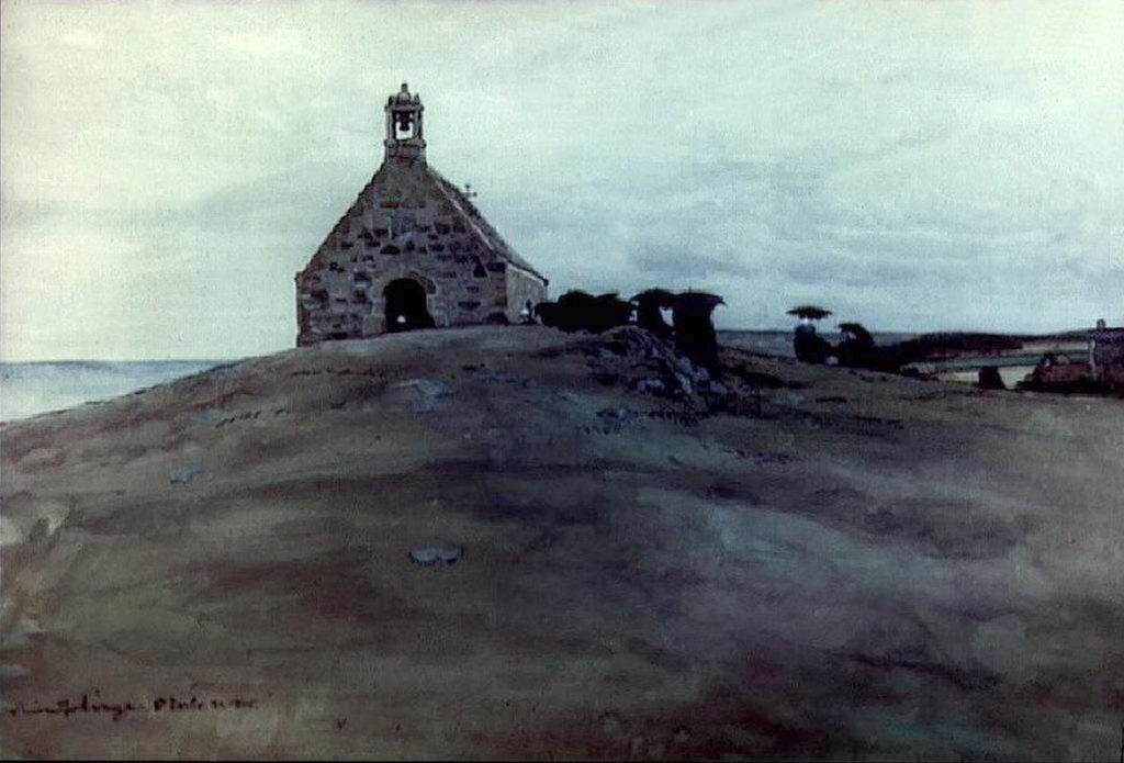 Александра Бенуа - Служба у капеллы св. Варвары (1900-е гг)