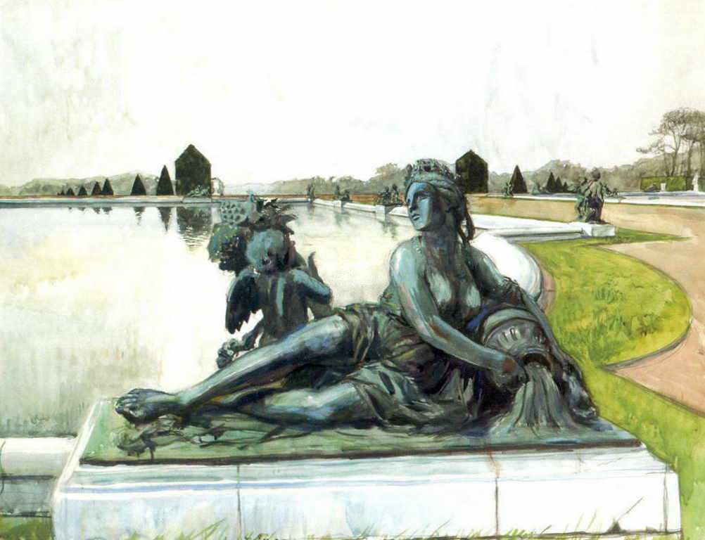 Александра Бенуа - Версаль. Аллегорий реки (1905 г.)