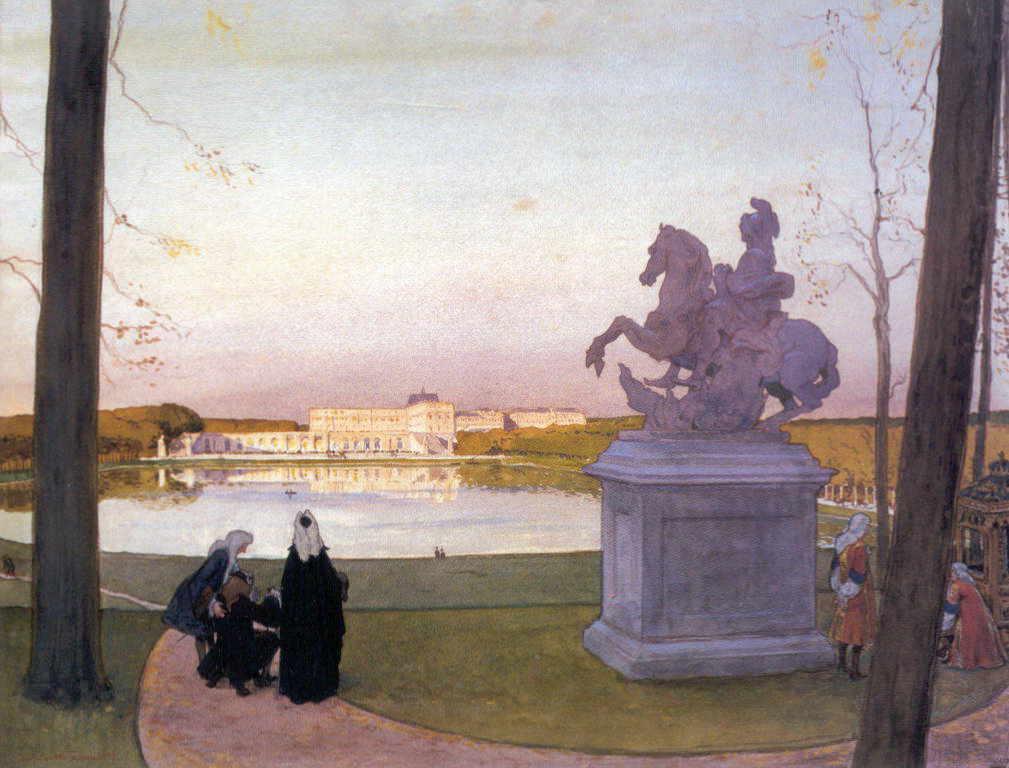 Александра Бенуа - Версаль. У Курция (1897 г.)