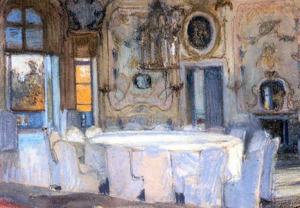 Александра Бенуа - Зал Катальной горы в Ораниенбауме (1901 г.)
