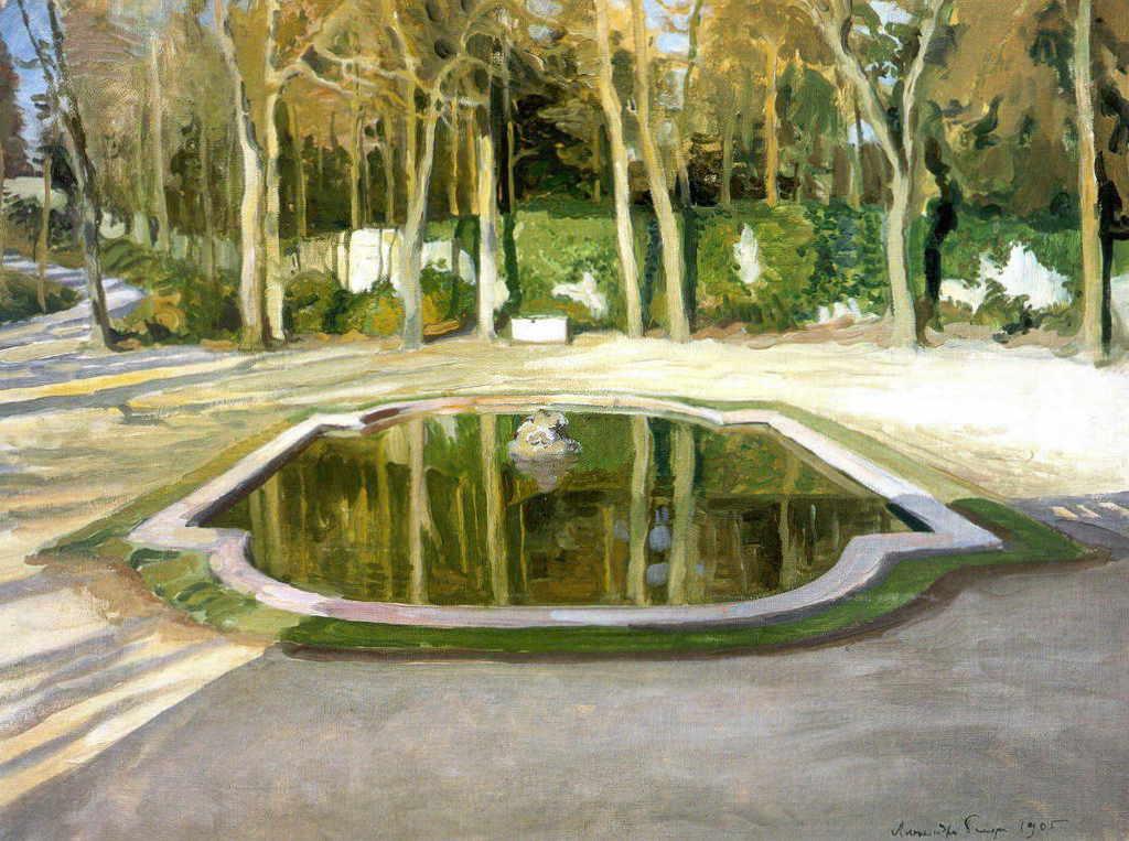 Александра Бенуа - Зеркальце в Трианоне (1905 г.)