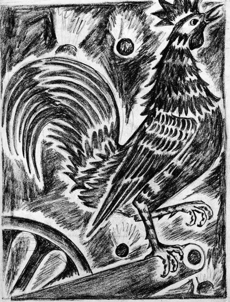 Гончарова Наталья Сергеевна - Французский петух (Гальский петух) (1914г)