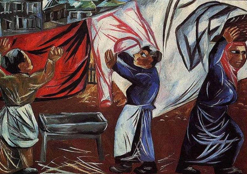 Гончарова Наталья Сергеевна - Прачки (1911-12г)