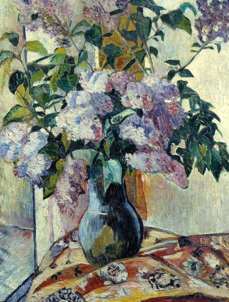 Гончарова Наталья Сергеевна - Сирень (1906, Холст, масло, Нижегородский художественный музей)