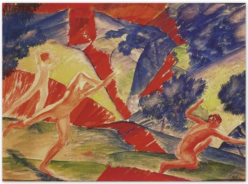 Петров-Водкин Кузьма Сергеевич - Гибель (1914г., Русский музей, Санкт-Петербург)