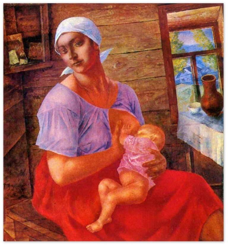 Петров-Водкин Кузьма Сергеевич - Мать (1915 г.)