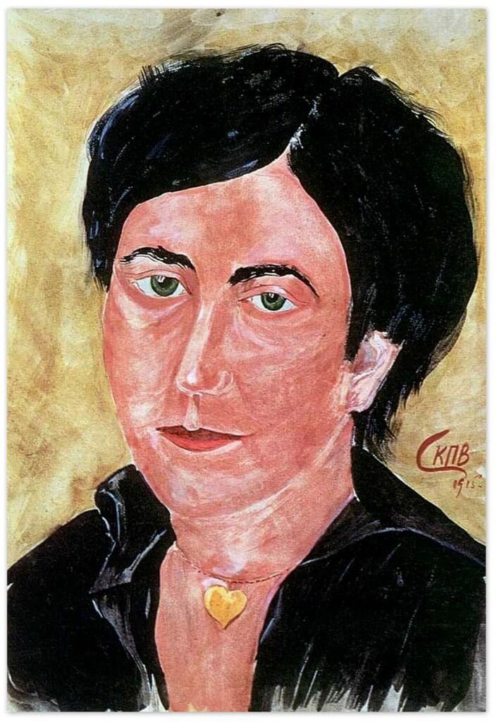 Петров-Водкин Кузьма Сергеевич - Портрет жены художника (1915г., Иркутский художественный музей)