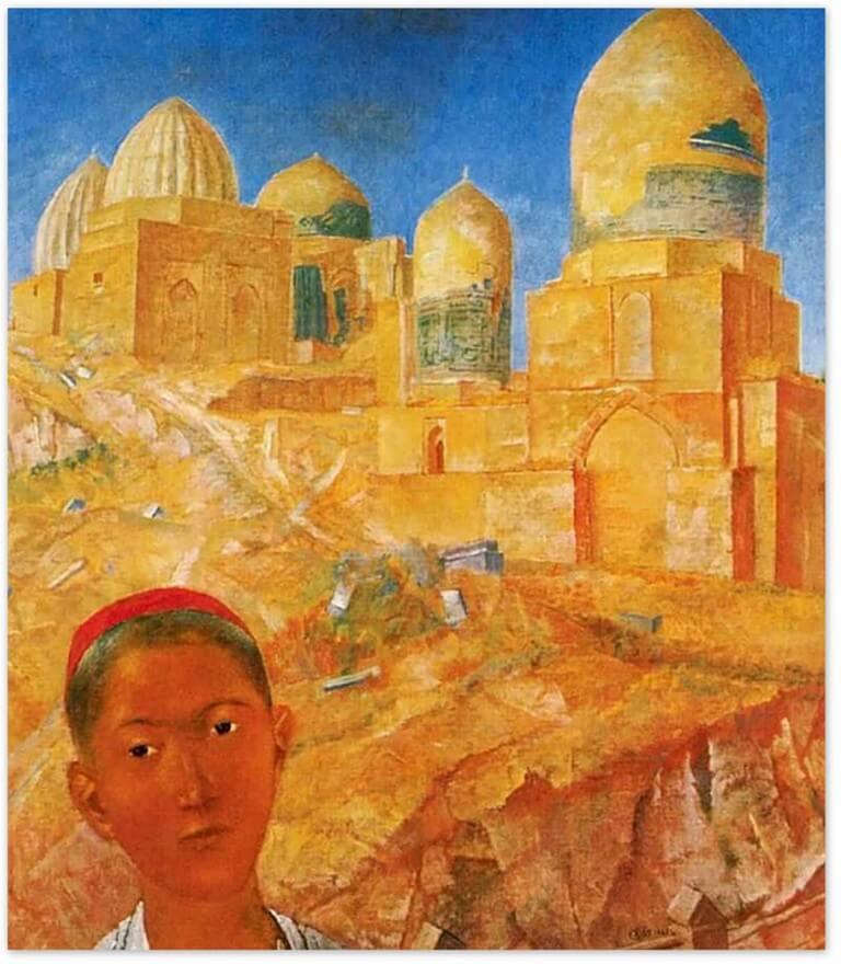Петров-Водкин Кузьма Сергеевич - Шах-и-Зинда (Самарканд) (1921г., Русский музейСанкт-Петербург)