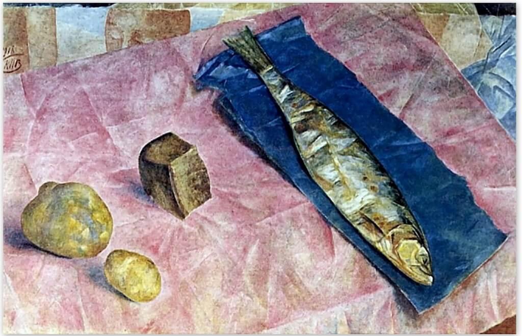 Петров-Водкин Кузьма Сергеевич - Селедка (1918г., Русский музей, Санкт-Петербруг)