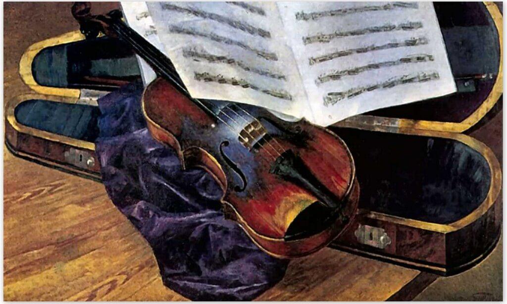 Петров-Водкин Кузьма Сергеевич - Скрипка (1916г., Одесский художественный музей)
