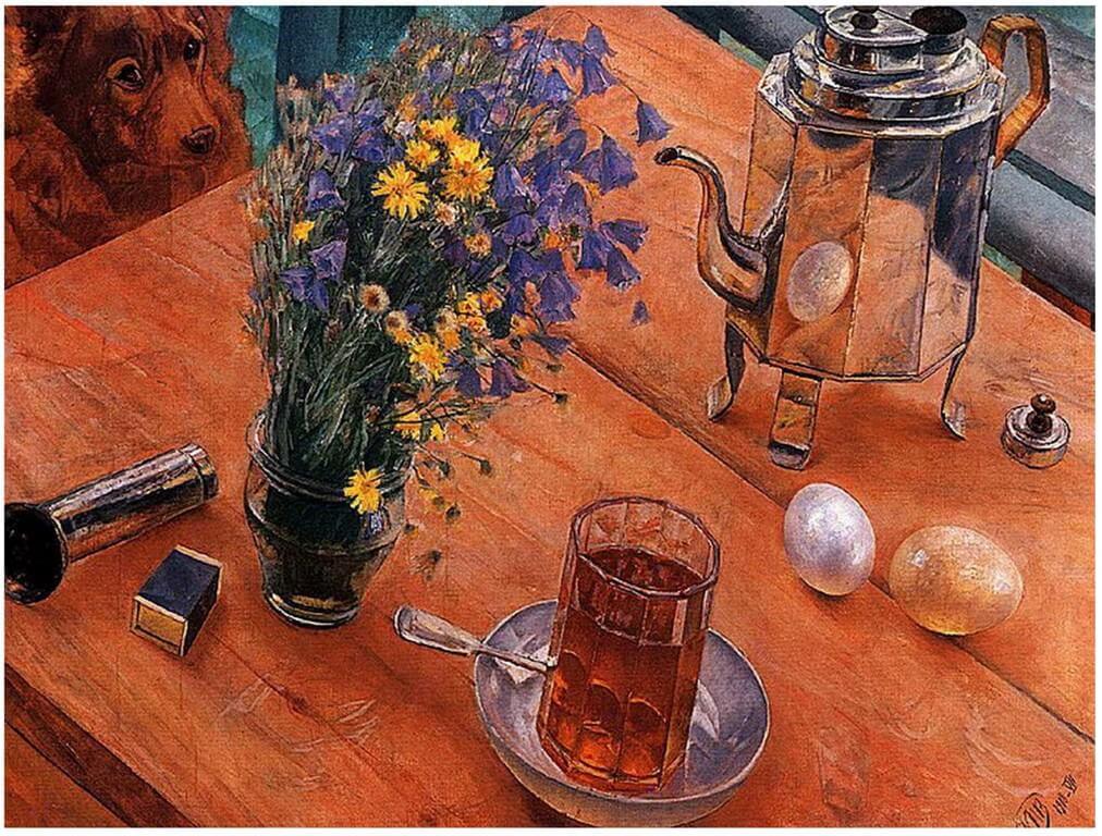 Петров-Водкин Кузьма Сергеевич - Утренний натюрморт (1918 г, Русский музей, Санкт-Петербруг)