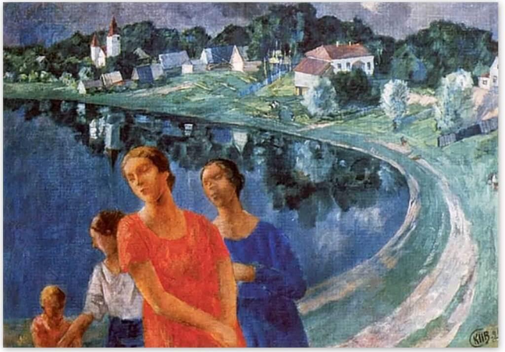 Петров-Водкин Кузьма Сергеевич - В Шувалове(1926г., Русский музейСанкт-Петербург)