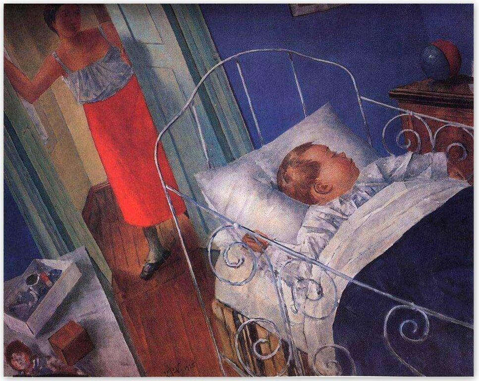 Петров-Водкин Кузьма Сергеевич - В детской (1925)