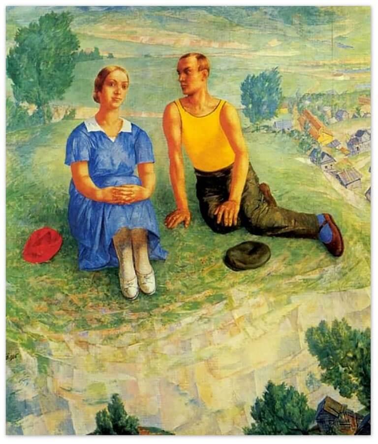 Петров-Водкин Кузьма Сергеевич - Весна (1935г., Русский музей, Санкт-Петербруг)