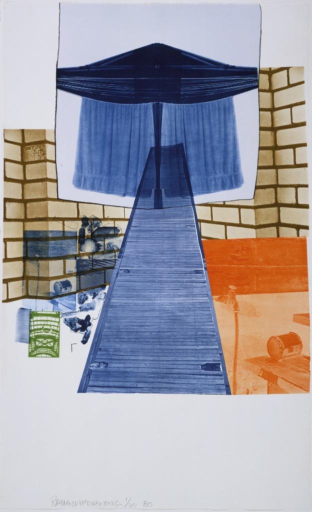 Роберт Раушенберг Glacial Decyo Series (литограф IV) 1980