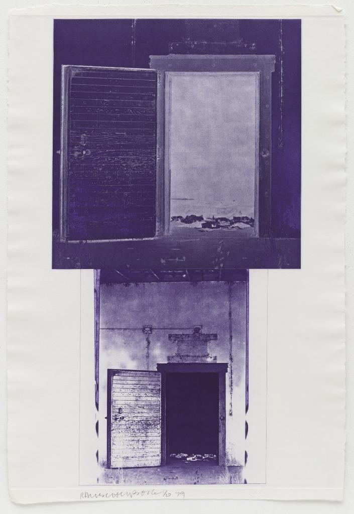 Серия Ледниковых Манок Роберта Раушенберга (Офорт V) 1979