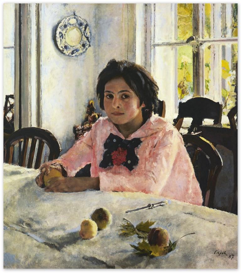 Валентин Серов - Девочка с персиками (1887, Третьяковская галерея, Москва)