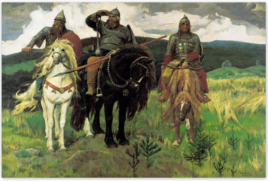Виктор Васнецов - Богатыри (1881—1898, Третьяковская галерея, Москва)