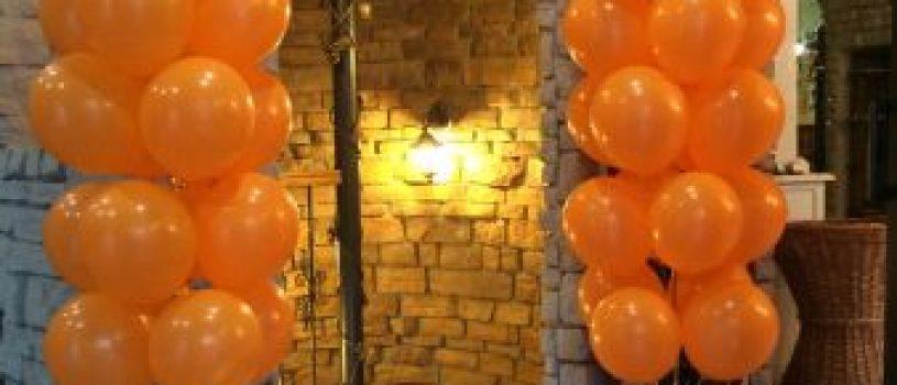 Оформление открытия магазинов воздушными шарами