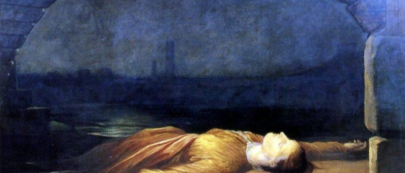 Почему героиня картины лежит на берегу реки