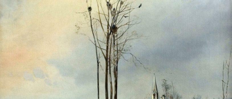 Это картину Саврасов написал в полной нищете, скитаясь по ночлежкам и перебиваясь случайными заработками