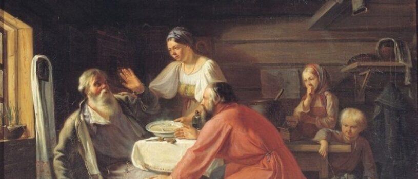 Почему мужчина на картине отказывается от еды