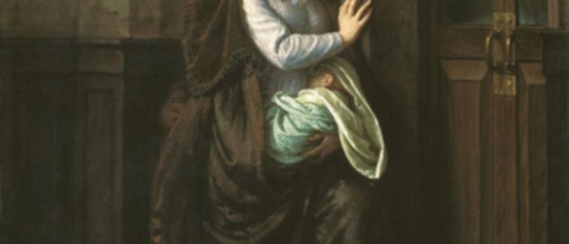 У дверей приюта: девушка вынуждена отдать своего младенца чужим людям