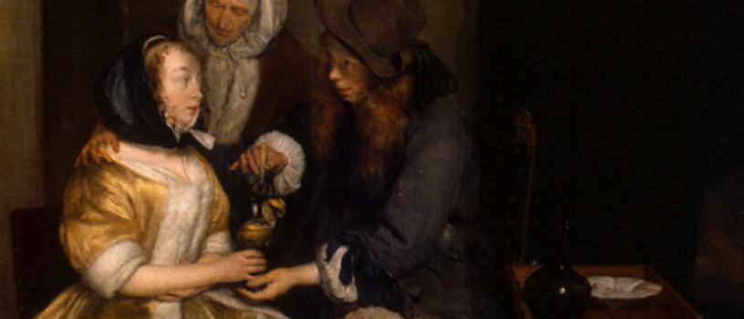 Молодой человек предлагает девушке бокал лимонада. Размышляю, что кроется в сцене
