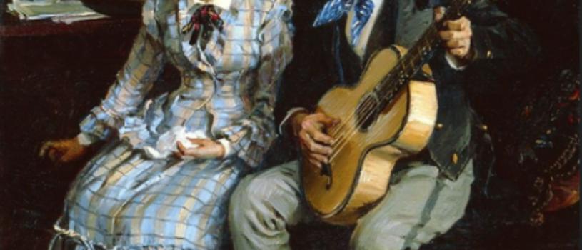 Жестокие романсы: парень поет девушке песню, а та не знает куда деваться от смущения